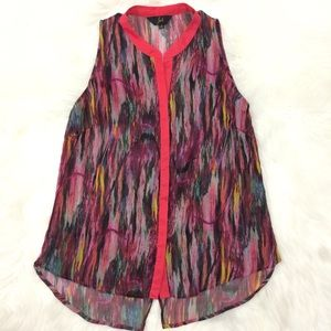 Jack BB Dakota Manet Fiery Pink Sleeveless Blouse